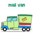 mail van vector image