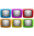 Six television screen in colors vector image