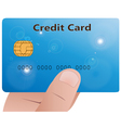 Hand with credit card 3 vector image vector image