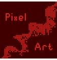abstract pixel art vector image vector image