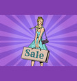 beautiful young woman on sale vector image