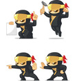 Ninja Customizable Mascot 4 vector image vector image
