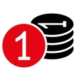 Coins icon from Business Bicolor Set vector image