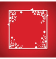 red floral box vector image vector image