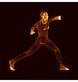 Fighting Man 3D Model of Man Human Body Model vector image vector image