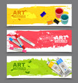 Artistic Horizontal Banners Set vector image