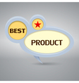 best product logo in gray colors vector image