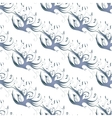 Blue birds seamless background vector image