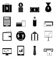 Business icons on white background vector image