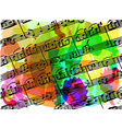 colorful musical notes book vector image