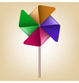 Colorful Pinwheel Windmill vector image