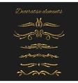 Gold text dividers set Ornamental decorative vector image