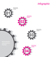 Infographic design with gear chain vector image