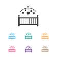 of child symbol on cradle icon vector image