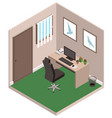 personal study private office room computer desk vector image
