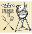 Set of barbecue line art icons vector image