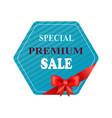 special premium sale sticker vector image