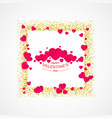 valentines day greeting card with gold vector image