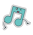 music note kawaii character vector image