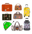 journey suitcase travel bag vector image
