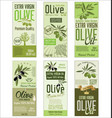 olive oil retro green background collection vector image