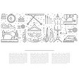 sewing icons outline vector image