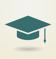 Simple graduation cap icon vector image