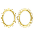oval decorative frames - set vector image vector image