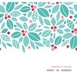 christmas holly berries horizontal frame seamless vector image vector image