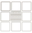 set of elegant seamless borders and frames vector image vector image