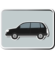 icon with isolated SUV vector image