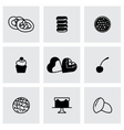 Fresh bakery icon set vector image