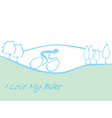 I love my bike card vector image