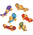 Set of skateboards vector