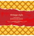 vintage style template vector image vector image
