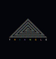 triangle shape dot logotype vector image