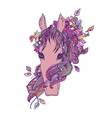 Abstract colored horse head print vector image