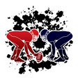 American football prepare to battle graphic vector image