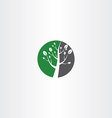 circle tree icon logo element design vector image