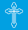 crucifix icon white vector image