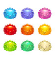 cute jelly hedgehog faces vector image