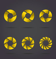 Golden segmented circles vector image