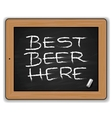Menu - Beers on the blackboard vector image