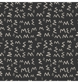Modern seamless pattern of zigzag monochrome vector image