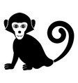 monkey icon black color fill flat style simple vector image