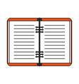 notebook open vector image