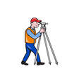 Surveyor Geodetic Engineer Theodolite Isolated vector image