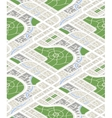 Map of the city in isometric view seamless vector image