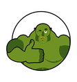Goblin shows well Sign all right Thumbs up Hand vector image