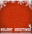 Western red christmas card with text and vector image vector image